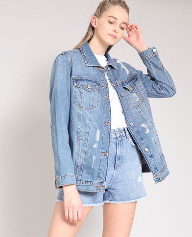 Veste en jean XL bleu denim
