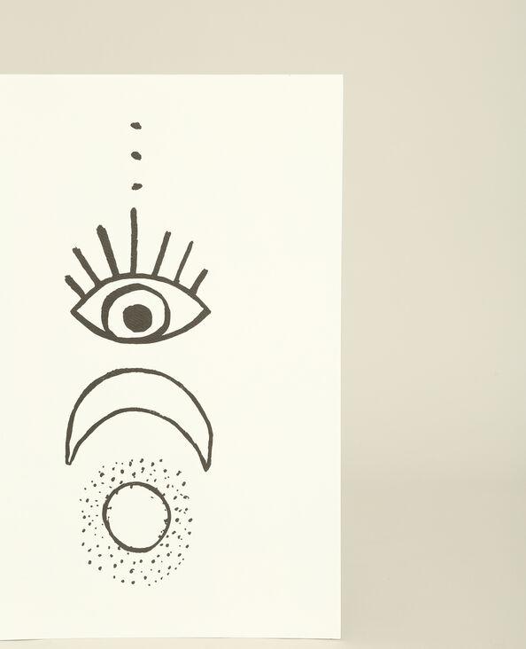 Affiche murale imprimée gris