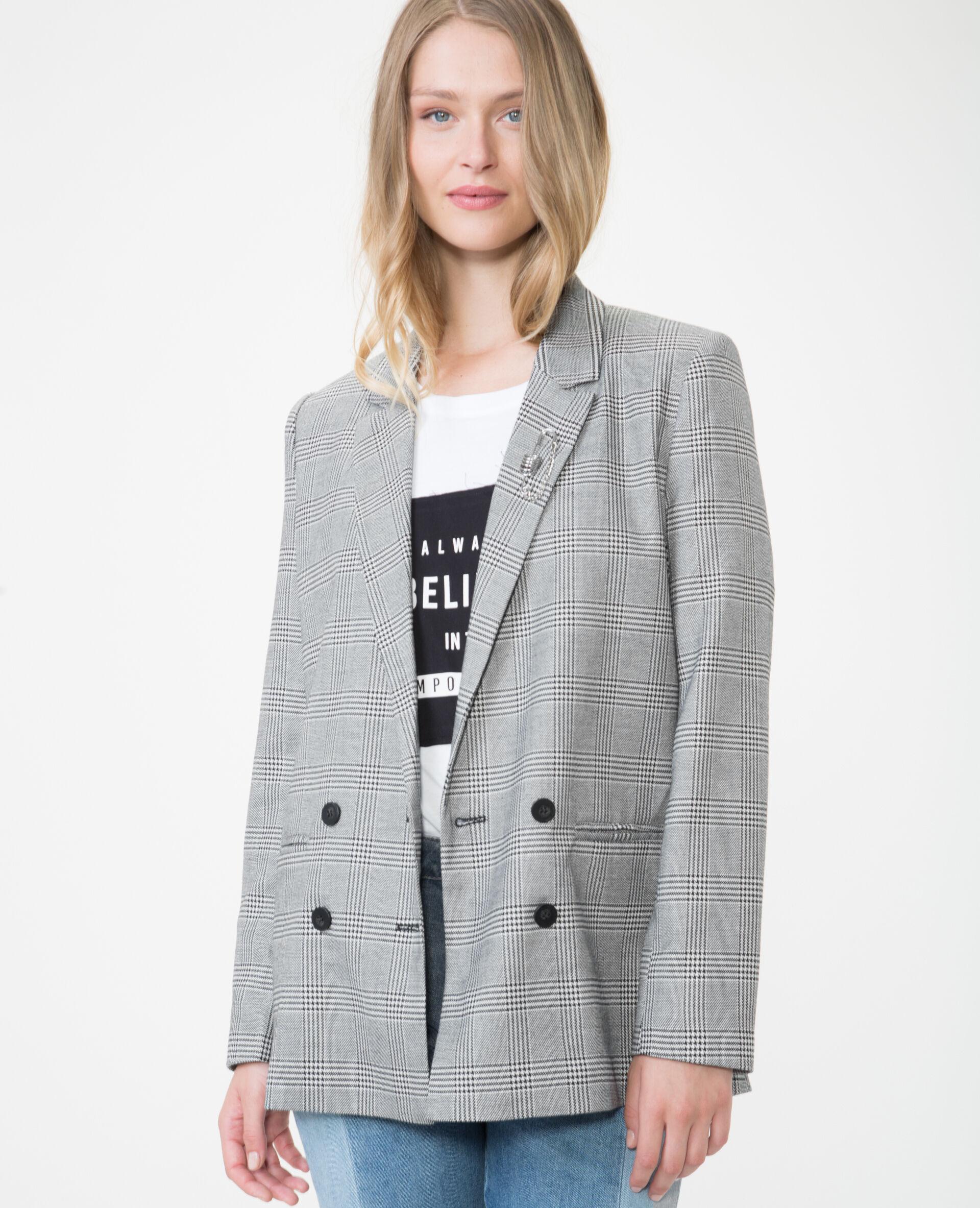 Veste blazer femme gris