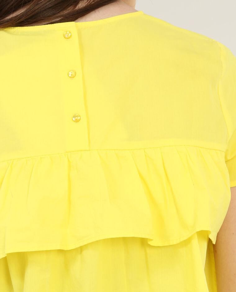 Blouse à volants jaune
