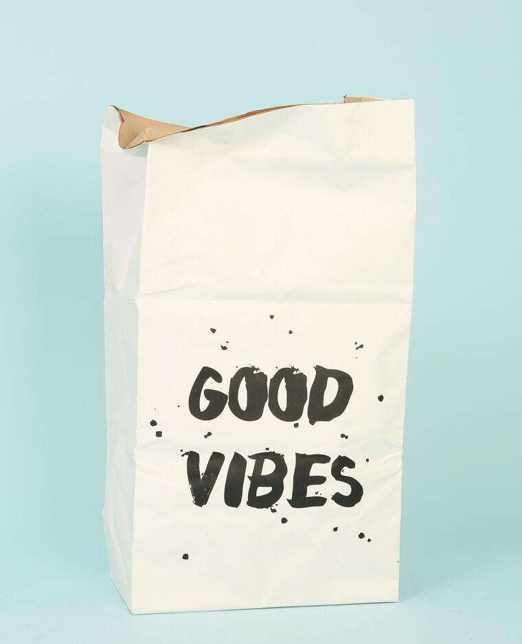 """Grand paper bag """"good vibes"""" écru"""