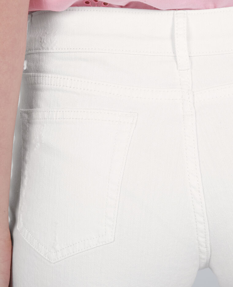 Mini short denim blanc