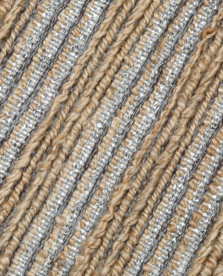 tapis tiss en jute et simili cuir beige 955045e03g07 pimkie. Black Bedroom Furniture Sets. Home Design Ideas