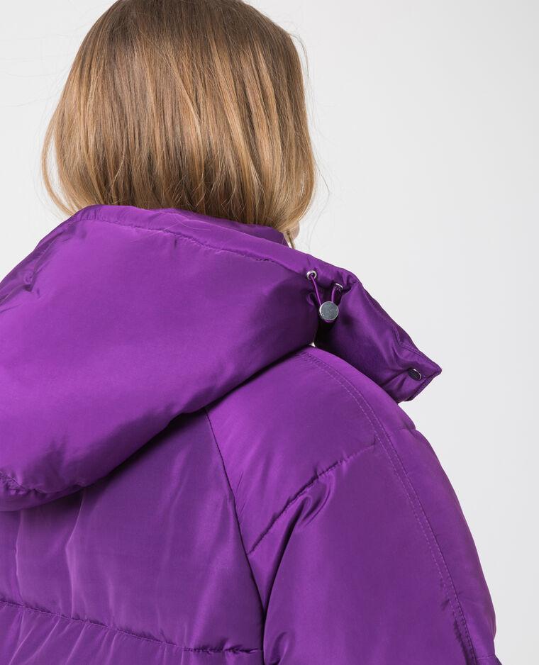 Doudoune longue XL violet
