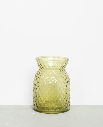 Vase en verre coloré vert