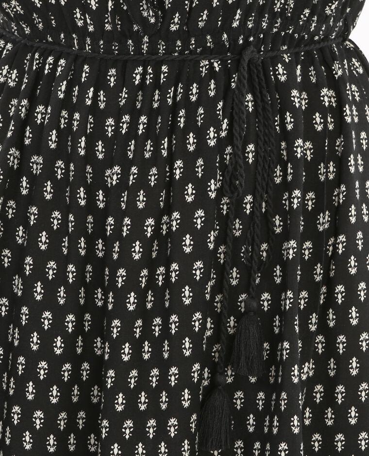 Robe imprimée noir