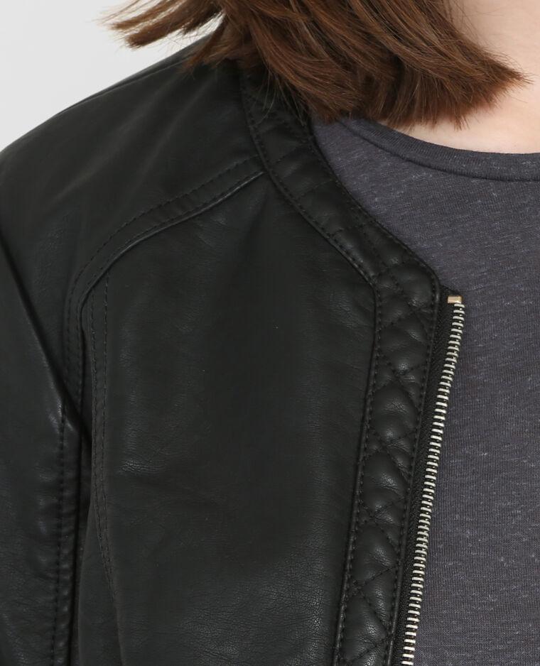 Veste style motard noir