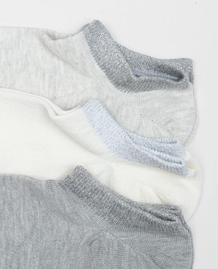 Socquettes lurex blanc cassé