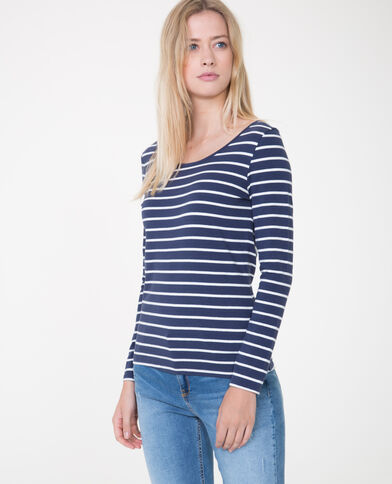 T-shirt à manches longues bleu marine