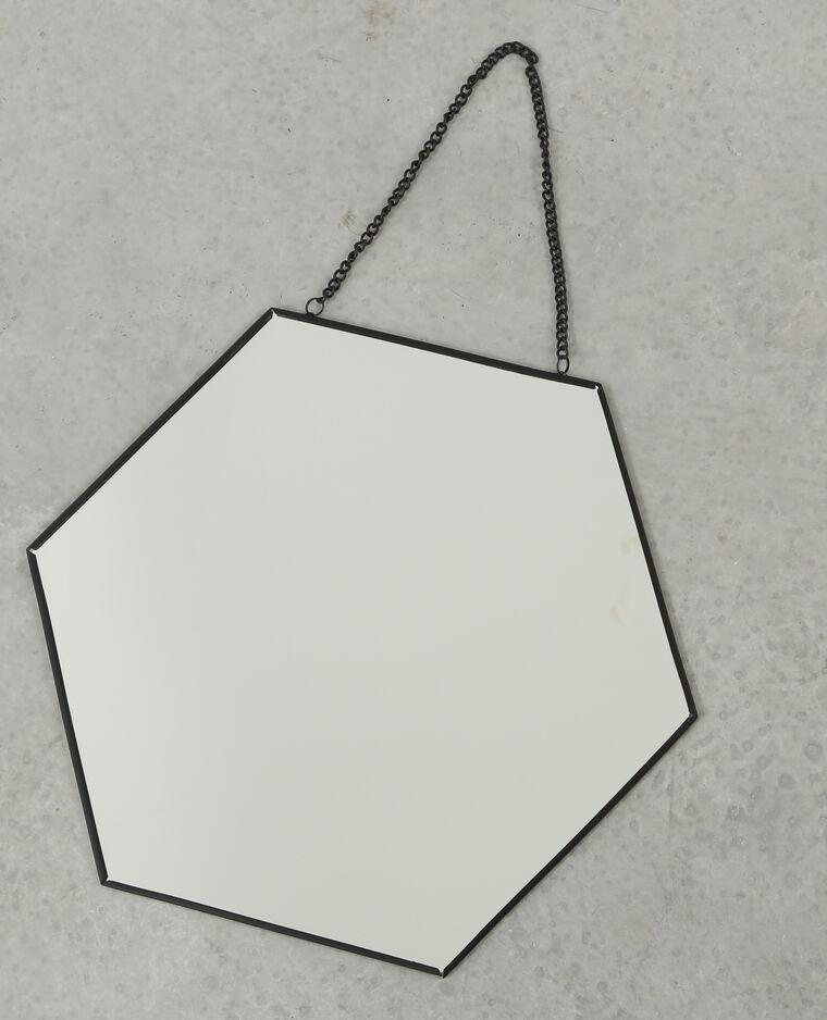 miroir hexagonal noir 975082899a4g pimkie. Black Bedroom Furniture Sets. Home Design Ideas