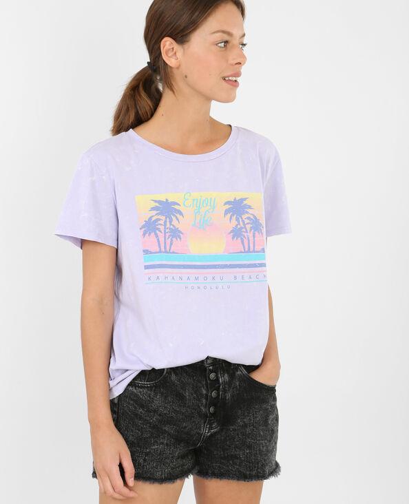 T-shirt imprimé Honolulu violet