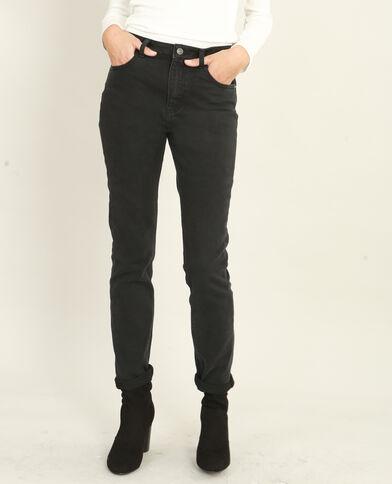 Jean slim taille haute noir