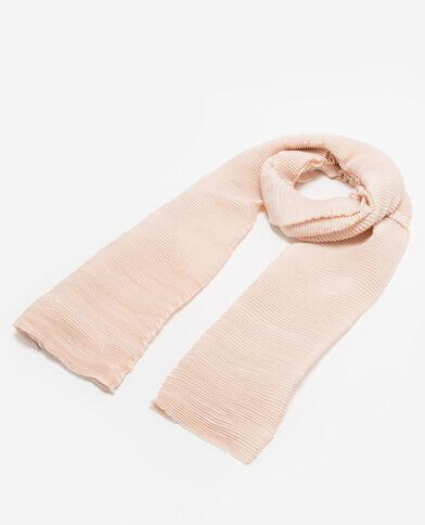 Echarpe plissée rose pâle