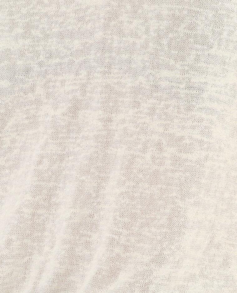 T-shirt col V blanc cassé