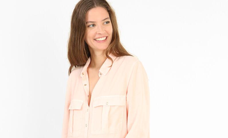 Robe chemise rose