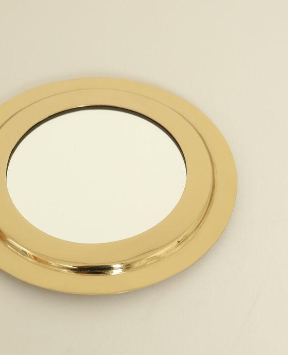 Petit miroir rond doré