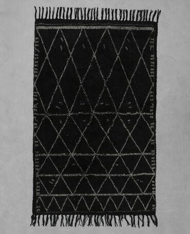 Tapis doux berbère noir