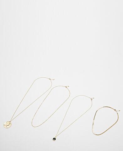 Lot de 4 colliers doré
