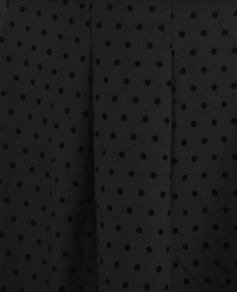 Jupe patineuse plumetis noir