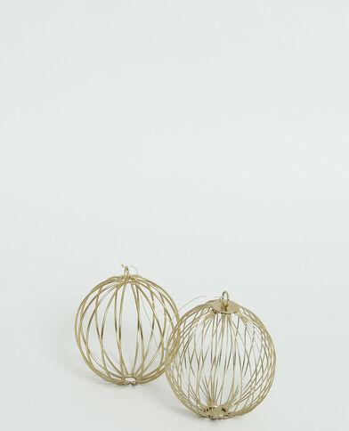 Boules de Noël en métal cuivré