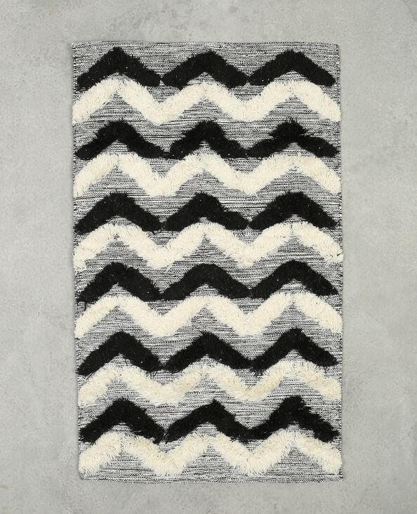 Tapis à zigzags noir