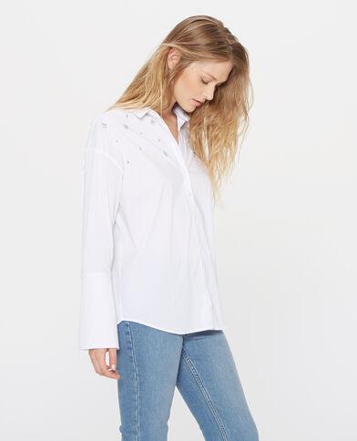 Chemise à bijoux blanc