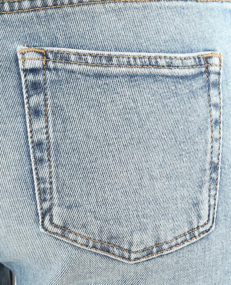 Jean slim brodé bleu denim
