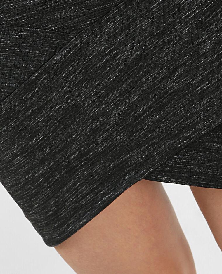Mini jupe bodycon gris chiné