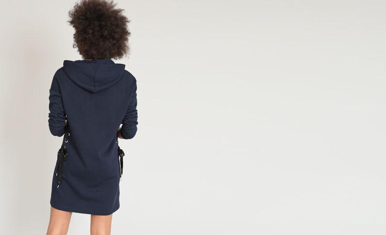 Robe sweat bleu marine