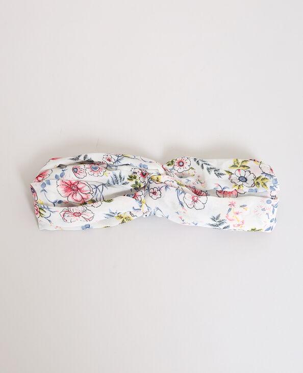 Headband fleuri blanc cassé