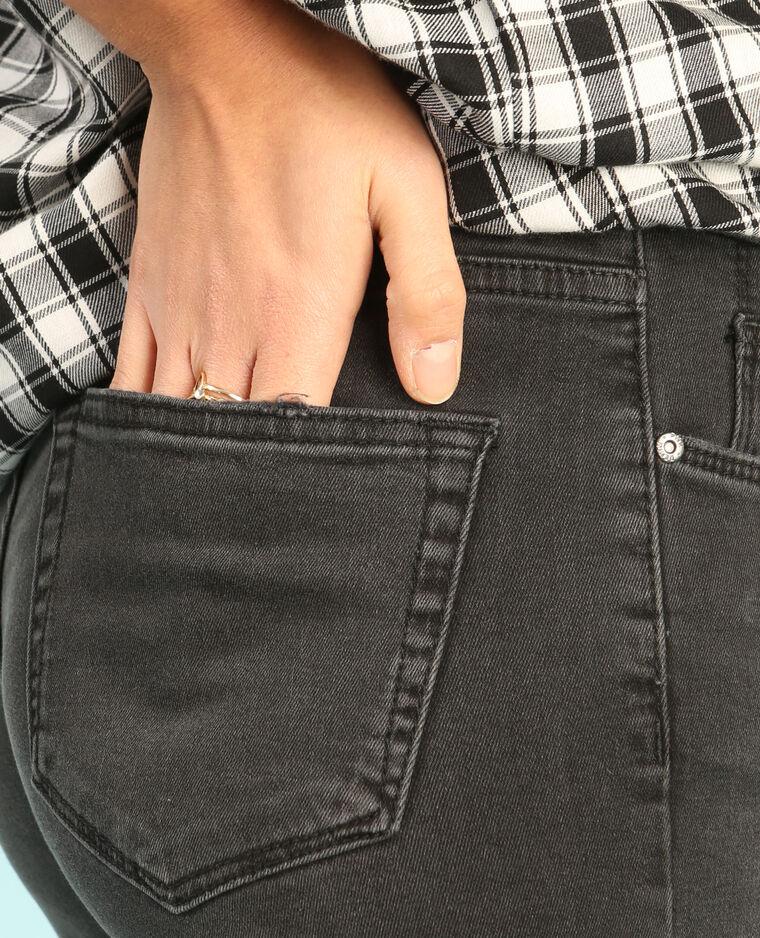 Jean skinny découpé noir
