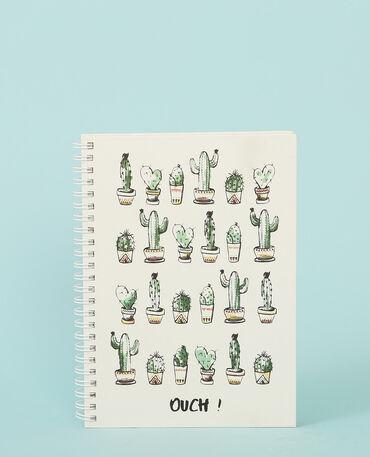 Notebook cactus gris