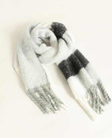 Echarpe chaude gris