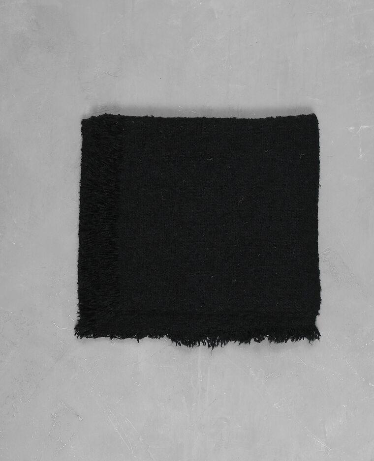 Plaid effet bouclette noir