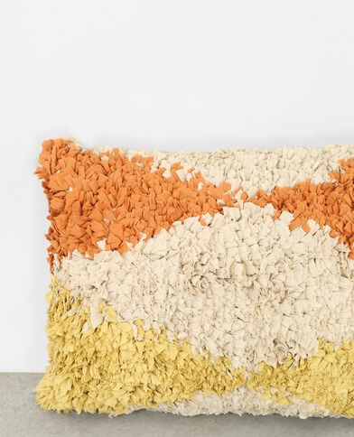 Grand coussin multicolore beige