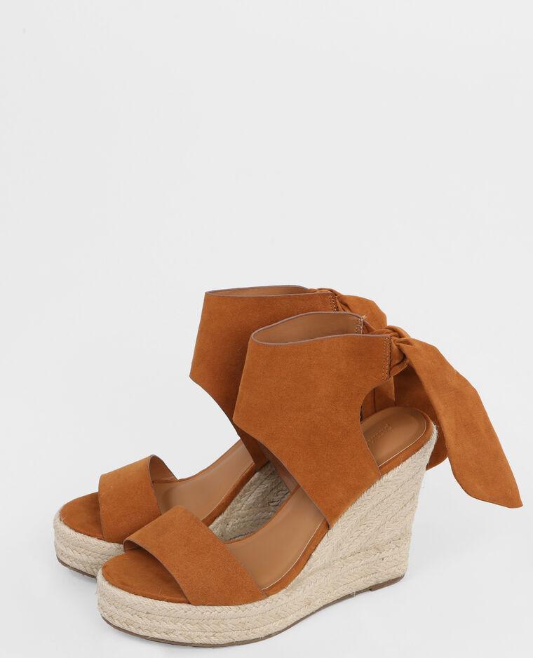 sandales compensées marron zxcxCrrP9