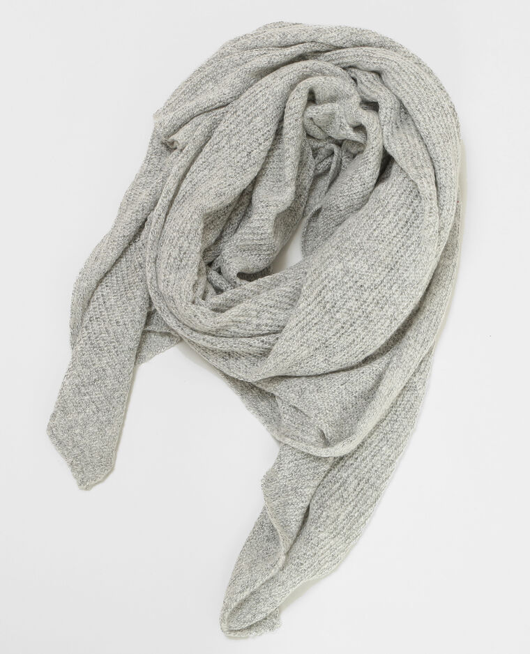 Echarpe oversize gris