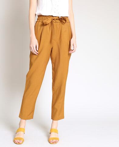 Pantalon fluide camel