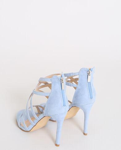 Sandales à talons aiguilles bleu aqua