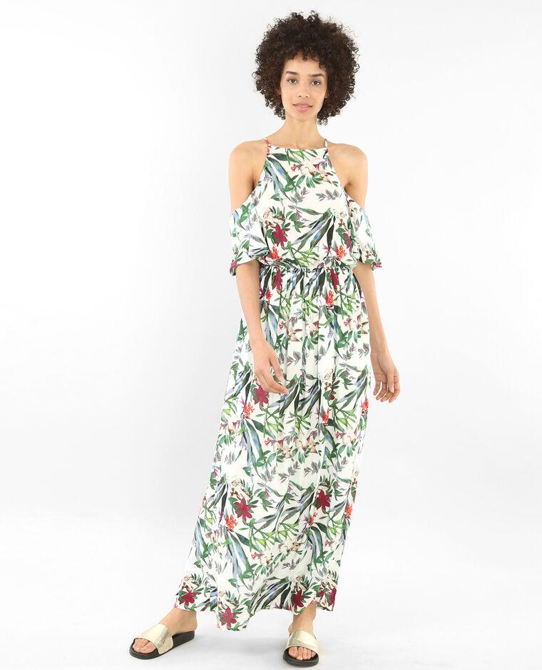 Robe longue manches peekaboo blanc 780654912e35 pimkie for Robe maxi pour un mariage