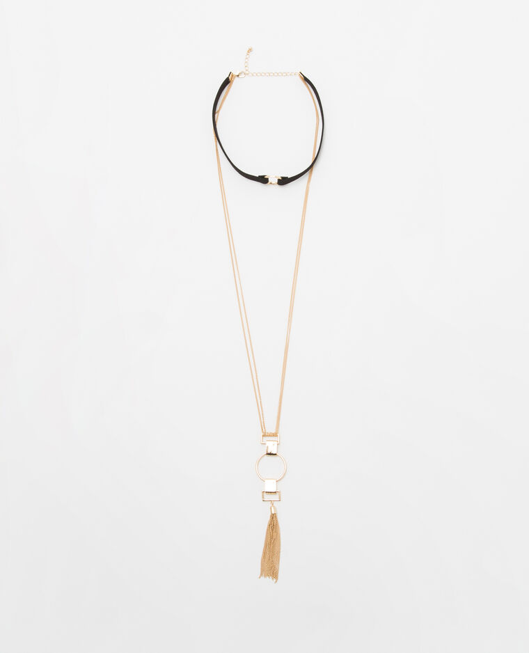 Collier multi-rangs doré