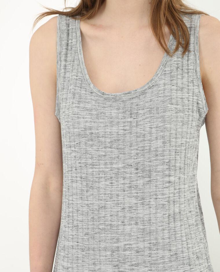 Robe t-shirt gris chiné