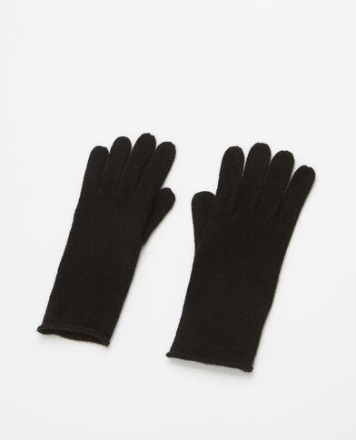 Gants 100% cachemire noir