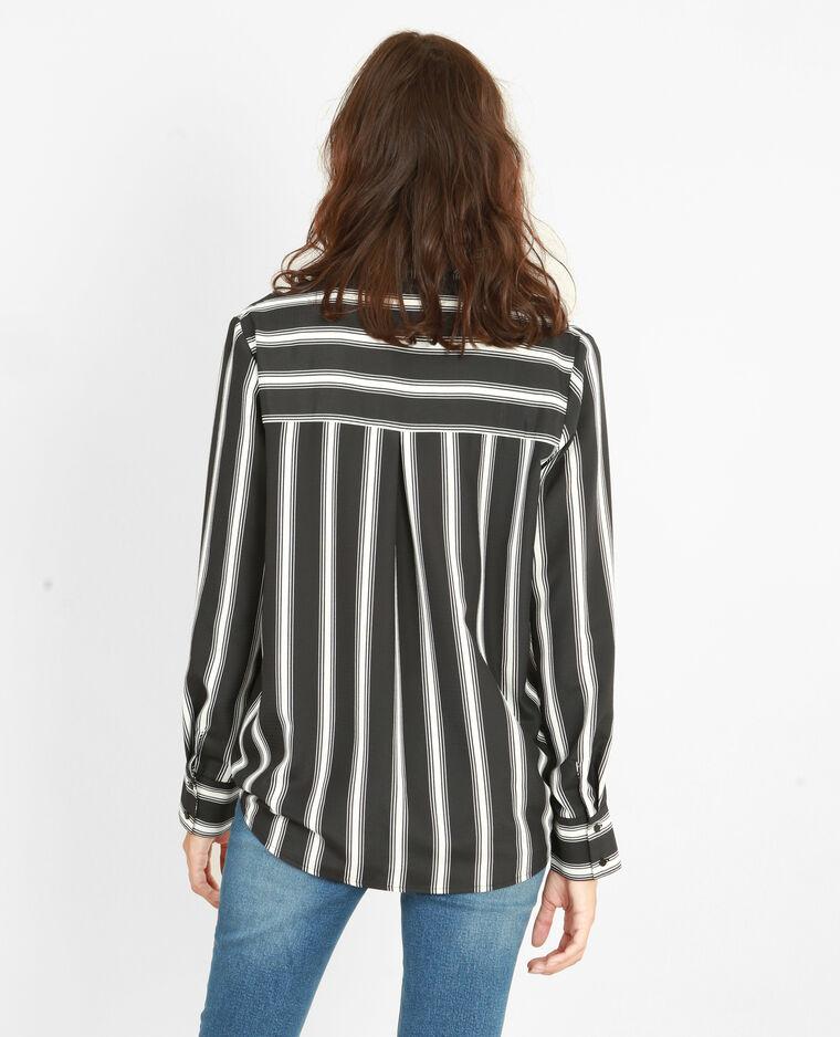 Chemise rayée noir