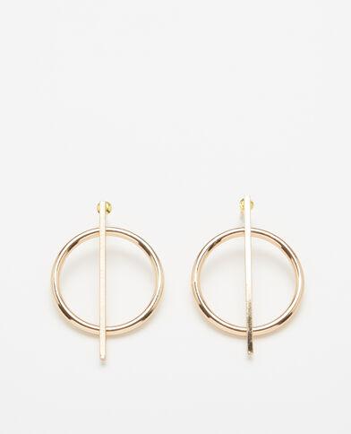 Boucles d'oreilles dorées doré