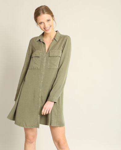 Robe chemise vert