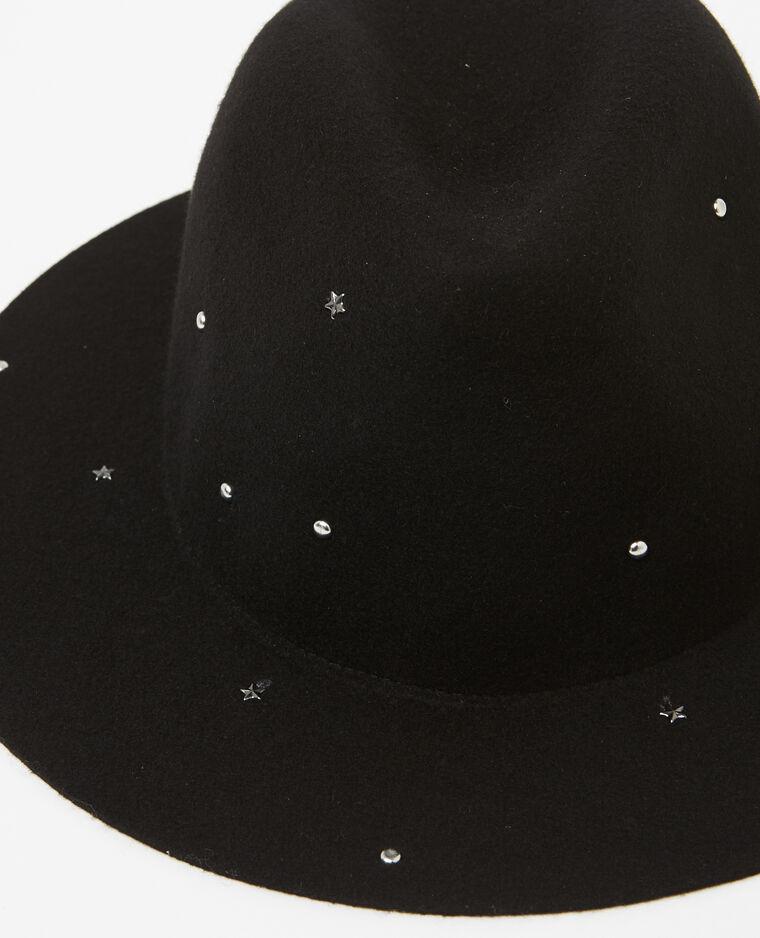 Fedora clouté noir