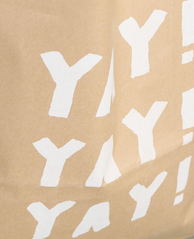 Paper bag imprimé Beige