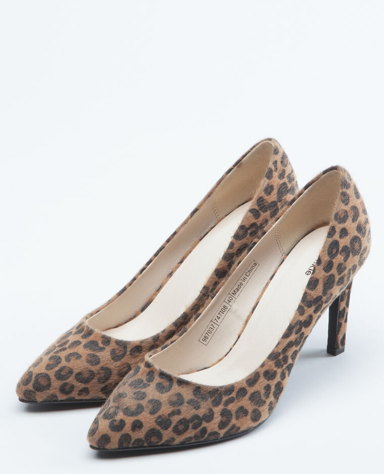 Escarpins léopard marron
