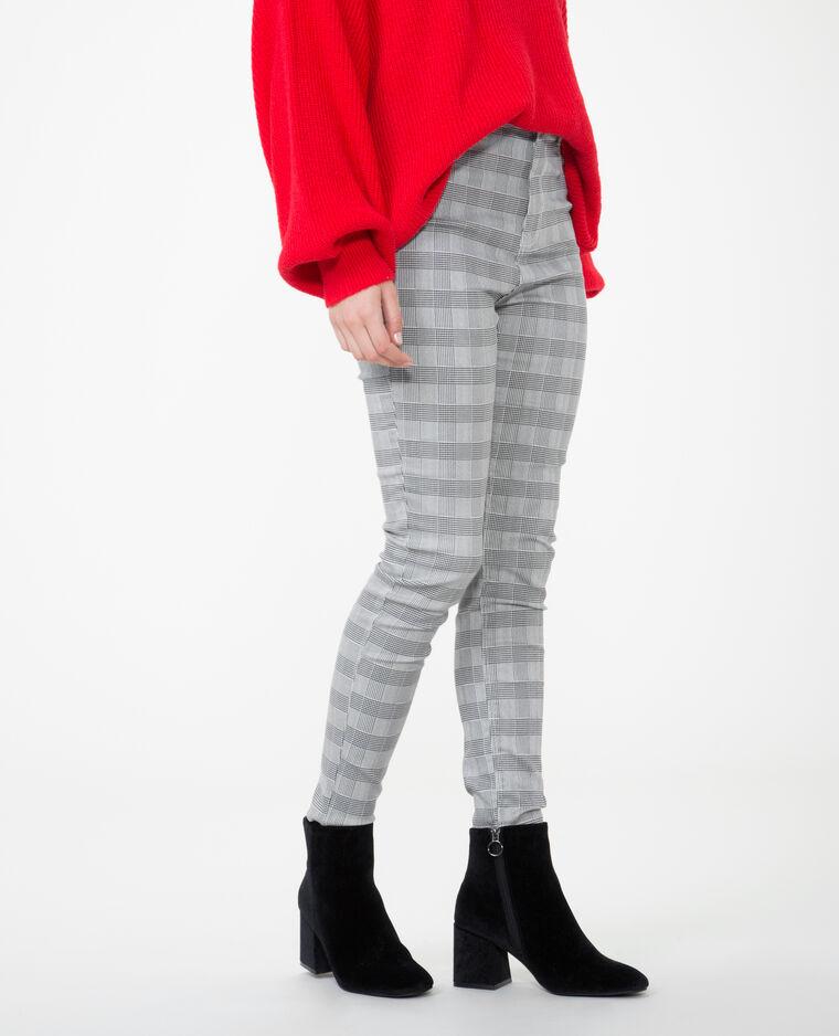 pantalon skinny prince de galles gris 140428905b88 pimkie. Black Bedroom Furniture Sets. Home Design Ideas